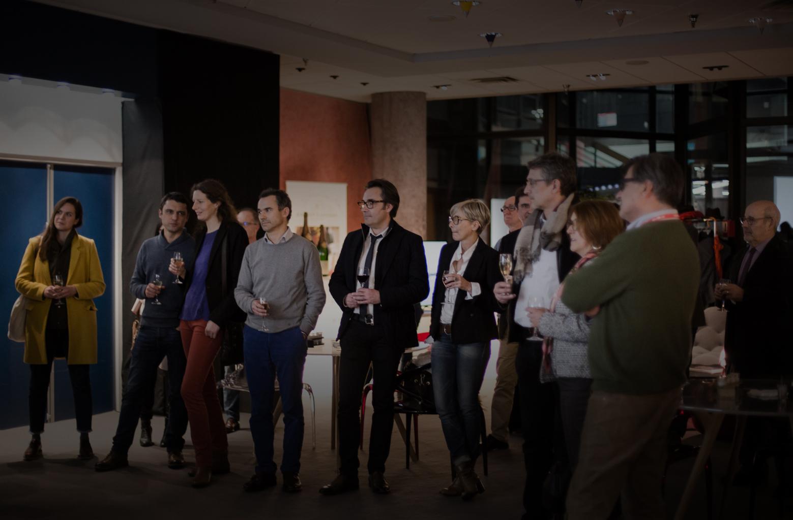 Photographie de groupe prise lors de la soirée Premiers Plans